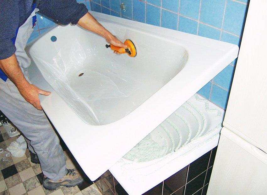 ремонт ванны акрилом