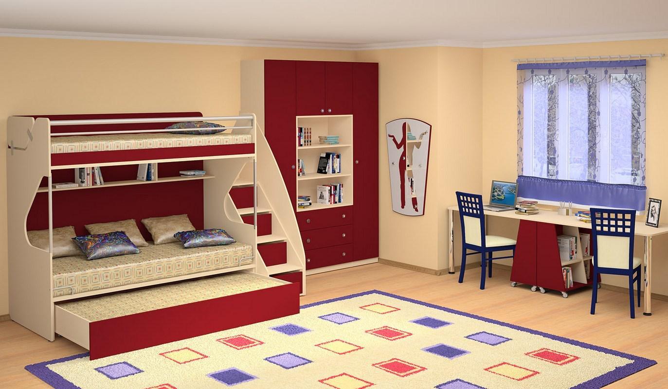 мебель в детскую комнату для школьника12