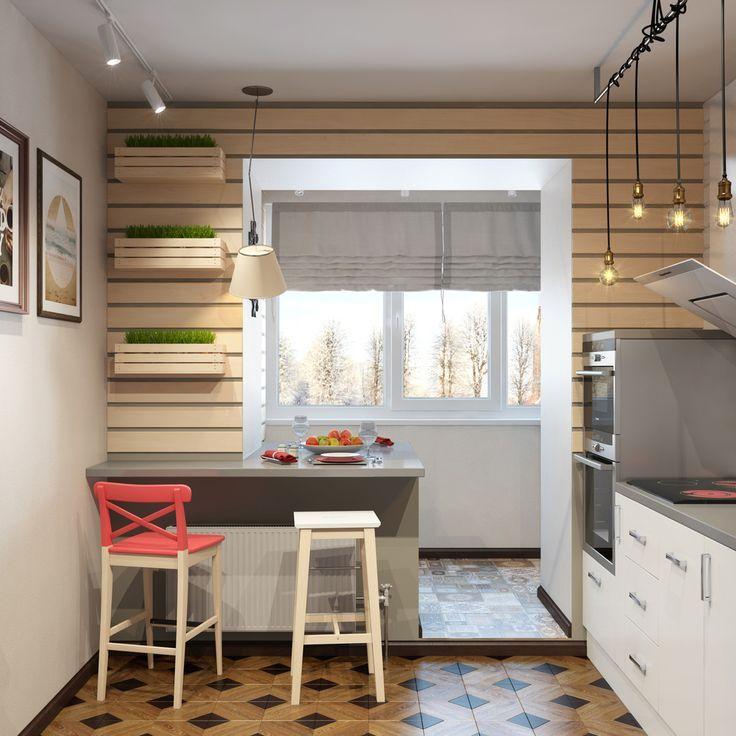 кухня на балконе2
