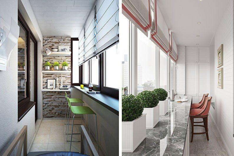кухня на балконе8