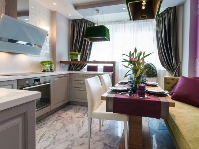 кухня на балконе или лоджии