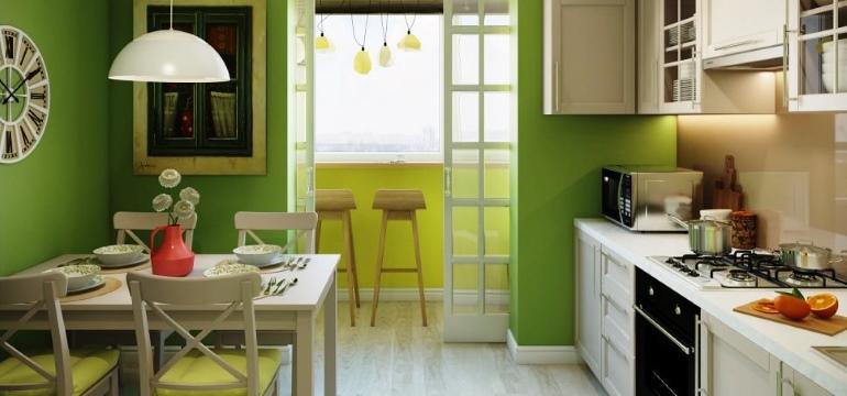 кухня на балконе7