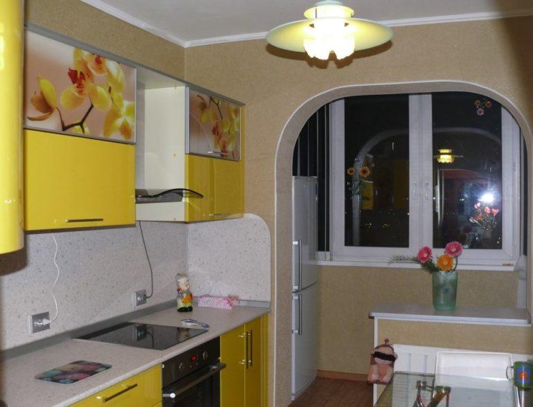 кухня на балконе5