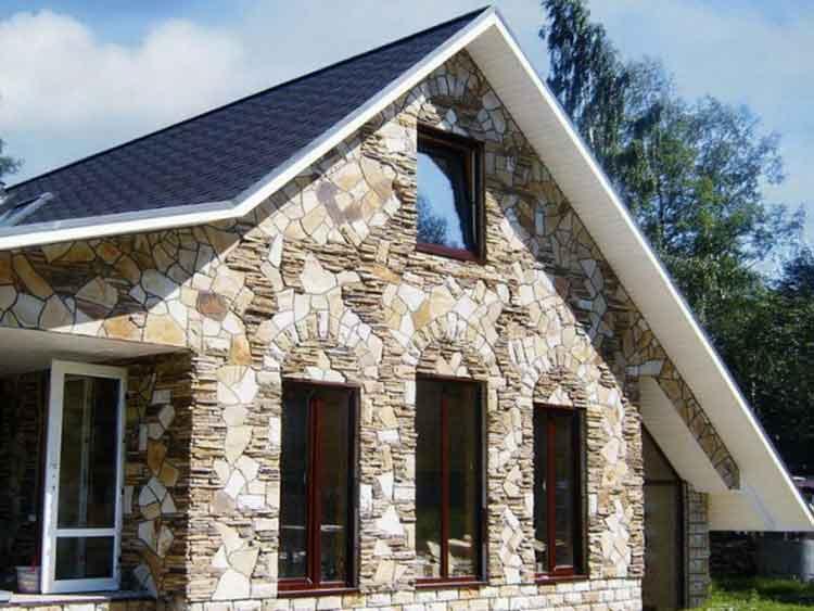 Отделка фасада камнем искусственного производства-идеальный выбор.