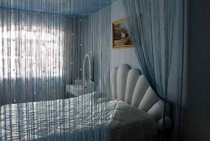 Нитяные шторы10